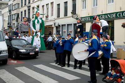 Marching band in Brussels, Belgium