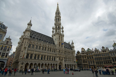 The Brussels Town Hall facade - Brussels, Belgium