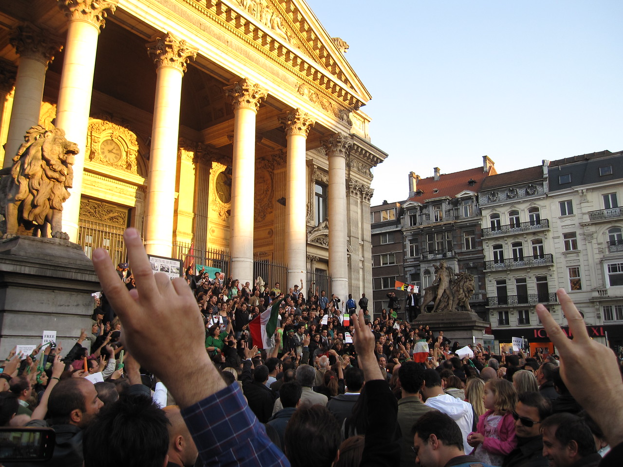 Ongoing protest in Brussels, Belgium
