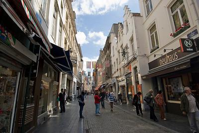 Street scene in Brussels, Belgium
