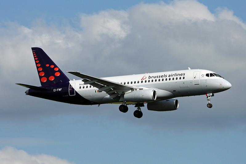 "EI-FWF Sukhoi SSJ-100-95B Superjet ""Cityjet"" c/n 95118 Brussels/EBBR/BRU 08-06-17 ""Brussels Airlines"""