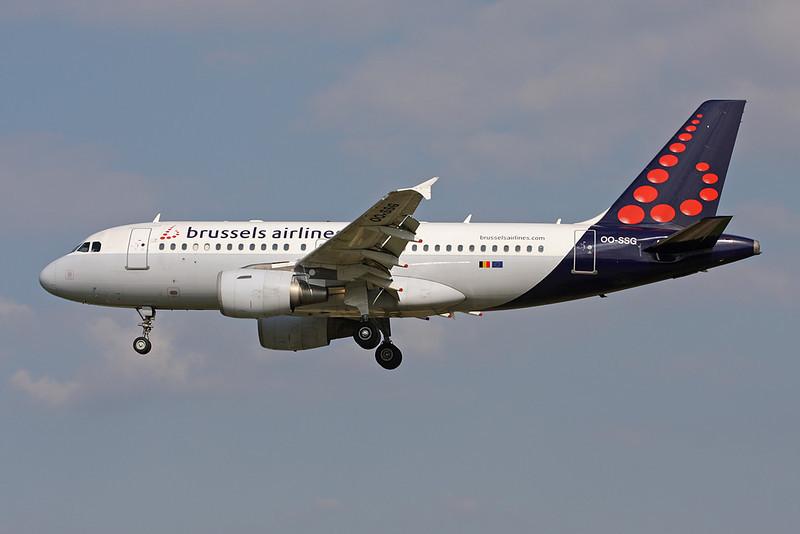 OO-SSG Airbus A319-112 c/n 1160 Brussels/EBBR/BRU 31-05-09