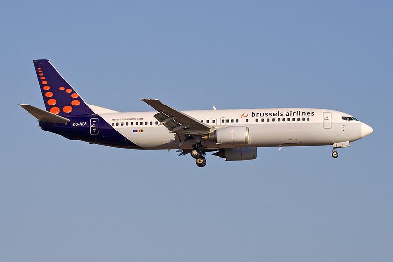 OO-VES Boeing 737-43Q c/n 28493 Barcelona-El Prat/LEBL/BCN 28-06-08
