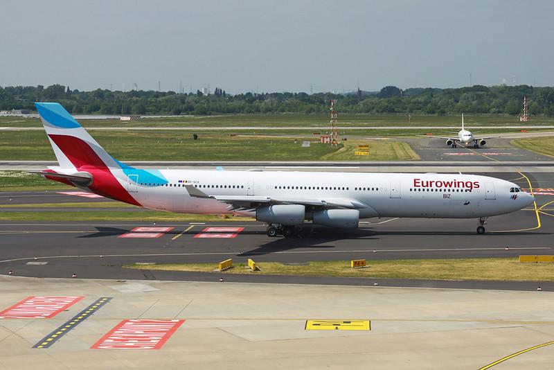 OO-SCX Airbus A340-313Xc c/n 354 Dusseldorf/EDDL//DUS 18-05-18