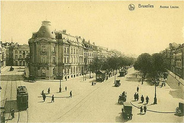 Avenue Louise in 1910