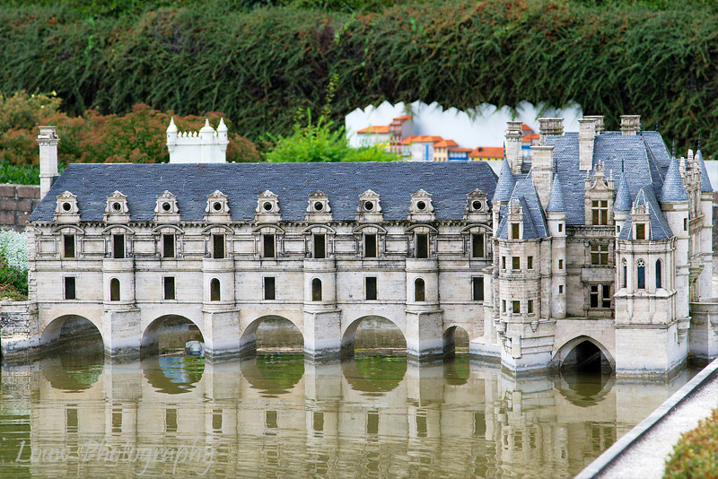 Model of Chenonceaux castle in France at Mini Europe, Bruxelles, Belgium