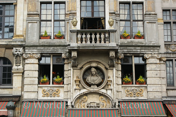 Brussels - Guild House in Grand Market - Close up