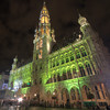 Town Hall in the Grand Place at night, Bruxelles, Belgium