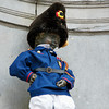 Manneken Pis statue dressed as a Volunteer of Bruxelles 1830, Brussels, Belgium