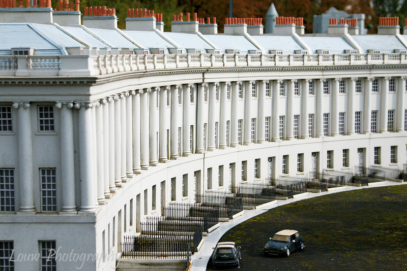 Model of the Royal Crescent in Bath, England at Mini Europe, Bruxelles, Belgium