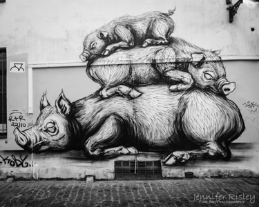 ROA's Three Pigs Mural