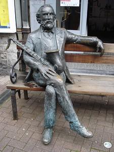 Adolphe Sax sculpture in Dinant Belgium.