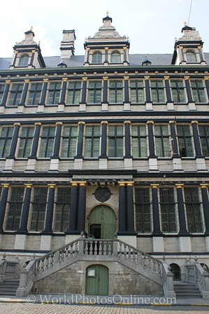 Gent - Town Hall - Entrance with Renaissance architecture styles