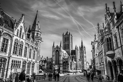 Amazing Ghent shot from Sint-Michielsplein.