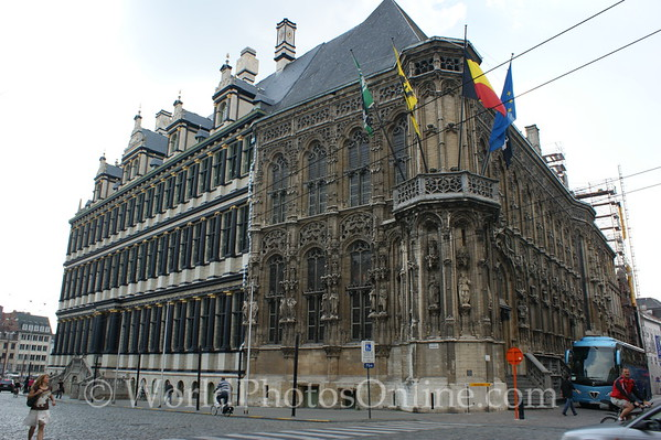 Gent - Town Hall - Note 2 different architecture styles
