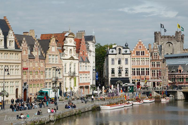 Korenlei and canal, Gent, Belgium