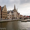 Graslei and canal, Gent, Belgium