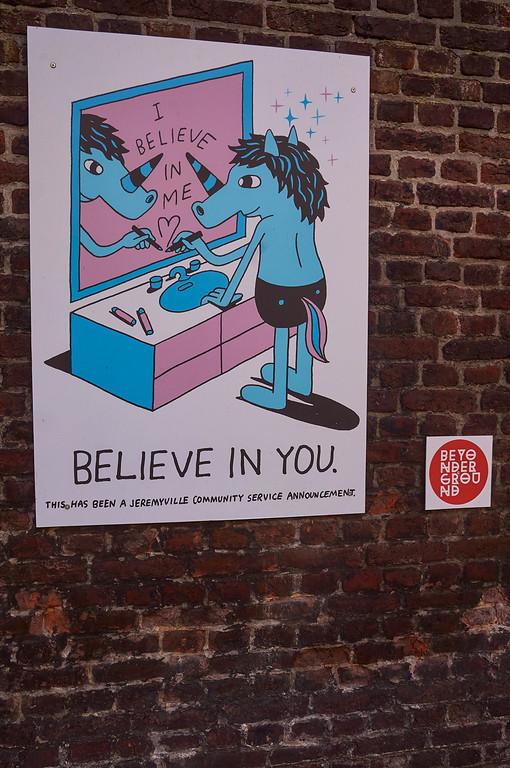 Street art by Jeremyville in Hasselt, Belgium