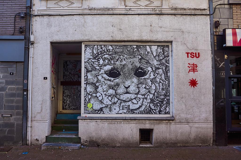 Mural from the Beyonderground Festival in Hasselt, Belgium