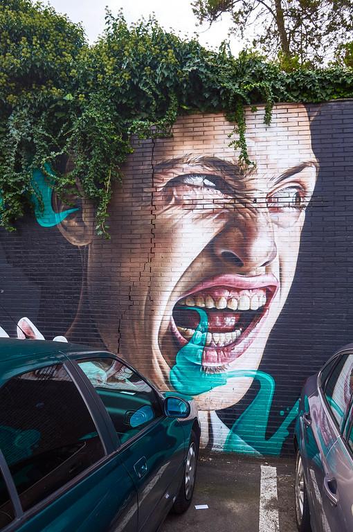 Mural by Smug in Hasselt, Belgium