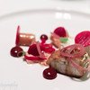Smoked Eel with beets, foie gras, red onion and popcorn powder, Hertog Jan, Brugge, Belgium