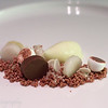 Pear, chocolates and cream of citrus, Hertog Jan, Brugge, Belgium