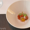 Amuse bouche of vegetables with cream of chestnut, Hertog Jan, Brugge, Belgium