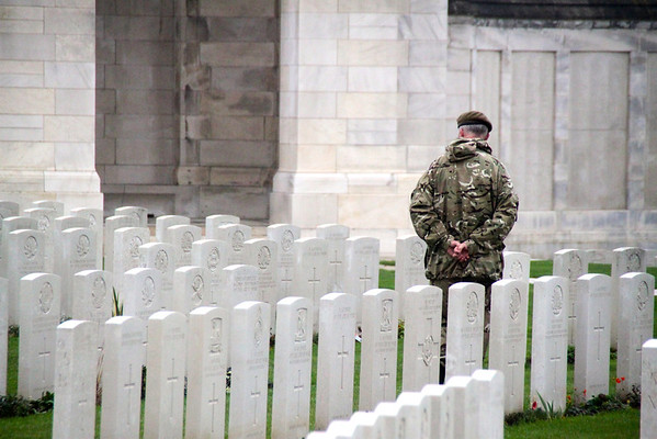 Soldier at Tyne Cot Cemetery