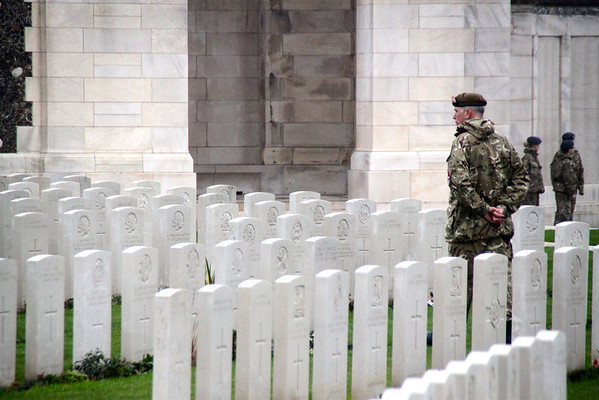 Soldier at Tyne Cot Cemetary