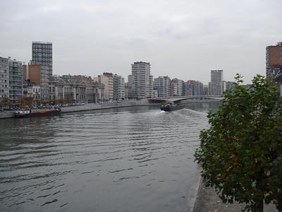 Meuse River, Liege - Belgium.