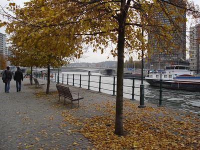 Meuse River Walkway, Liege - Belgium.