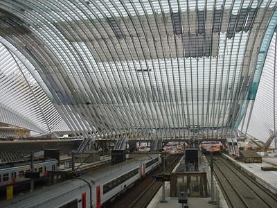 Liege Guillemins Train Station under construction (Nov 2007), Liege - Belgium.