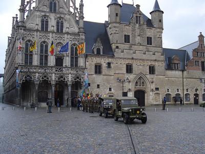 Armistice Day Parade on November 11 2007, at the City Hall, Mechelen - Belgium.