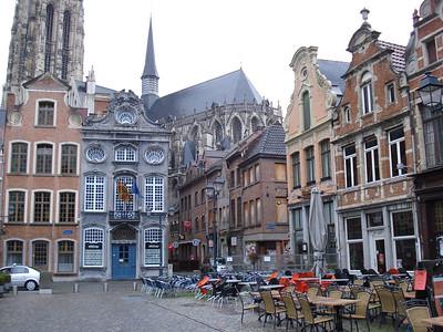 Cafes at Grote Markt, Mechelen - Belgium.