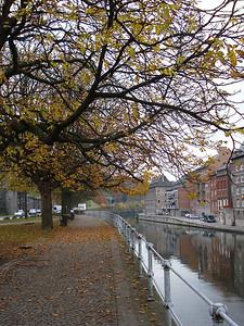 Sambre River Walkway, Namur - Belgium.