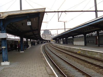 Oostende Train Station platform, Ostend (Oostende) - Belgium.