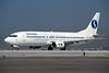 """OO-SBJ Boeing 737-46B """"Sobelair"""" c/n 24573 Athens-Hellenikon/LGAT/ATH 22-09-00 (35mm slide)"""