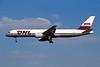"""OO-DLJ Boeing 757-23APF """"European Air Transport"""" c/n 24971 Brussels/EBBR/BRU 23-04-04 """"DHL"""" (35mm slide)"""