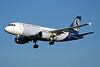 """OO-SSG Airbus A319-112 """"SN Brussels Airlines"""" c/n 1160 Brussels/EBBR/BRU 23-04-04 (35mm slide)"""