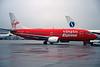 """OO-LTU Boeing 737-33A """"Virgin Express"""" c/n 27455 Brussels/EBBR/BRU 06-12-96 (35mm slide)"""