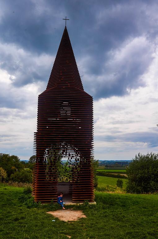 View of the Doorkijkkerk in Borgloon, Belgium
