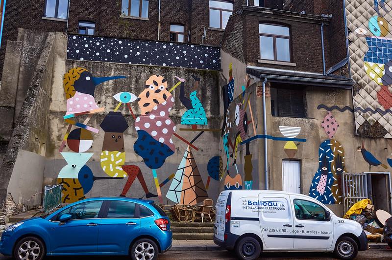 Nice mural in Liège, Belgium