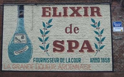 Old Elixir de Spa advertisement, Spa - Belgium.