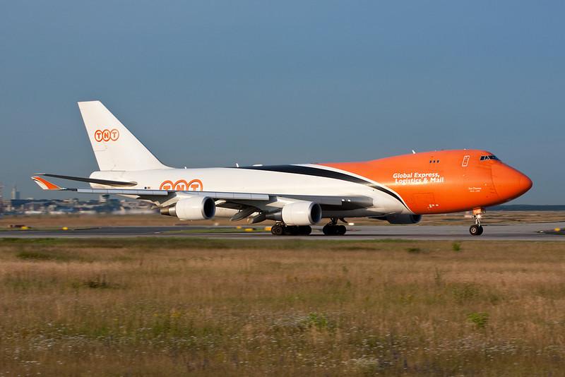 OO-THB Boeing 747-4HAERF c/n 35234 TNT Airways Frankfurt/EDDF/FRA 01-07-10