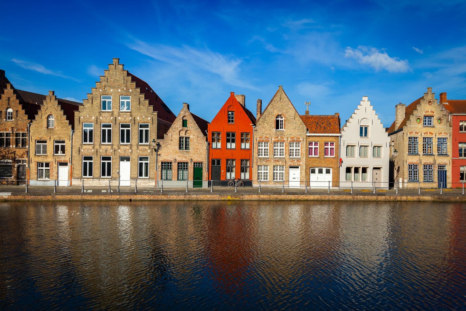 European town. Bruges (Brugge), Belgium