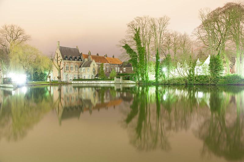 Minnewater, Bruges, Belgium.
