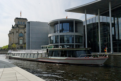 Spree river with Reichstag and government buildings