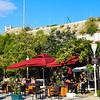 Cafes along the marina