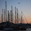 Bodrum marina at sunset