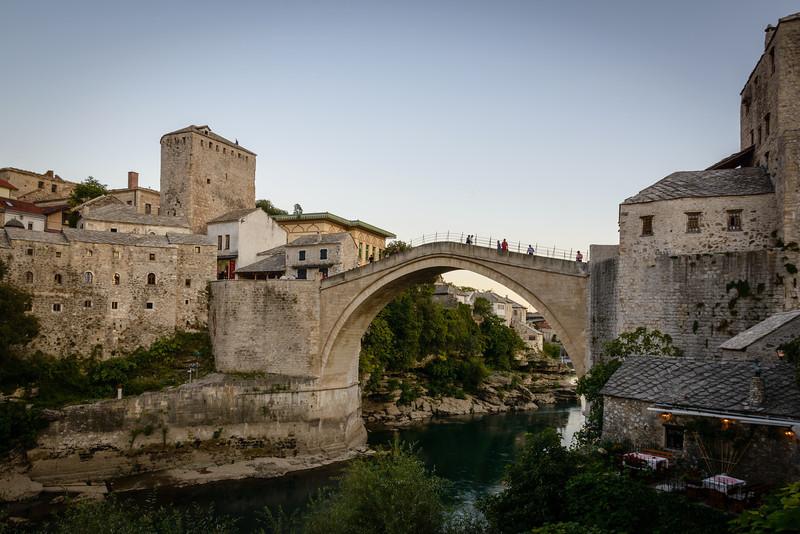 Mostar Bridge from Restaurants